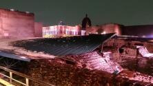 El Templo Mayor de la Ciudad de México queda destrozado por el granizo