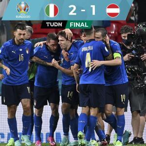 Italia sufre ante Austria y avanza a los cuartos de final con el 2-1