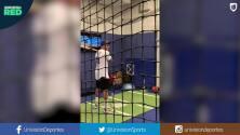 ¿Mbappé a los Dodgers? el futbolista francés mostró que lo suyo no es el Béisbol