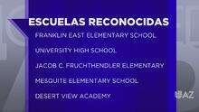 """Cinco escuelas de Arizona reciben el reconocimiento del """"listón azul"""" por parte del gobierno federal"""