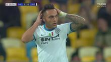 ¡Perdonó! Lautaro Martínez manda su disparo por un costado ante Shakhtar