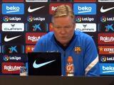 """Ronald Koeman: """"Quiero disfrutar en el Barça: ocho años, un año o tres meses"""""""