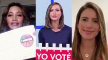 """""""Yo voté temprano"""": Satcha Pretto, Argelia Atilano y Lindsay Casinelli compartieron su emoción y experiencia"""