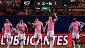¡Una aplanadora! Atlas golea a Atlético de San Luis y casi amarra Cuartos