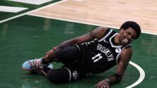 Nets caen ante los Bucks y sufren por la lesión de Kyrie Irving