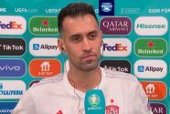 """Busquets cree que """"el fútbol hoy no fue justo con España"""""""