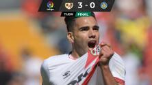 Rayo Vallecano golea al Getafe con un rugido de Falcao en su debut