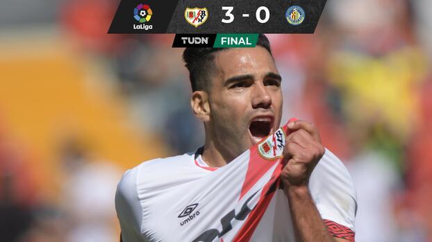 ¡Ruge el Tigre! Falcao anota en su debut con el Rayo ante Getafe