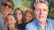 """""""Sé que están tristes"""": Juan Soler leyó conmovido una carta a sus hijas acerca de su divorcio de Maki"""