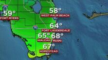 Miami tendrá temperatura cálida sin lluvia este jueves 5 de enero