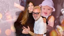 Enseñando piernita con estilo, la bebé de Sharon Fonseca y Gianluca Vacchi pasea por Roma