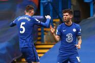 Chelsea se fue primero al frente en el marcador con anotación de Christian Pulisic a los 27 minutos.