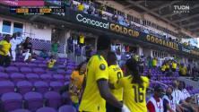 ¡GOL!  anota para Jamaica. Cory Burke
