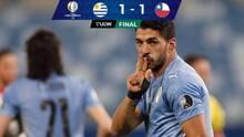 Chile mantiene el paso invicto tras empatar contra Uruguay