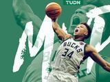 Giannis Antetokounmpo es elegido como MVP de la serie final de la NBA