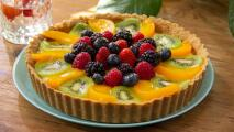 Tarta de frutas con crema pastelera (sin horno)