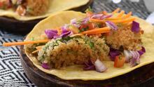 Tacos estilo Baja de ¡aguacate! (vegetarianos y deliciosos)