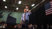 Barack Obama bebe el agua de Flint