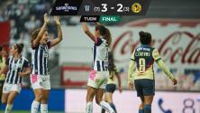 Rayadas vuelve a vencer al América que cierra un semestre desastroso