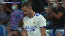¡Cerca del empate! Disparo de Hazard y contrarremate de cabeza de Nacho
