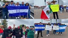 Copa Oro: Aficionados llegan al estadio State Farm para el partido de México vs. Honduras