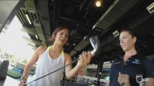 Contacto Conquista: Adriana Monsalve se le midió a jugar golf en Las Vegas