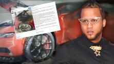 """""""Llegó el momento de decir la verdad"""": El Alfa habla de quién estaría detrás de su Bugatti quemado"""