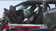 Aparatoso choque deja sin vida a una persona en Oakdale