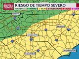 Tiempo severo: emiten vigilancia por tornados hasta las 7 p.m. al suroeste de Carolina del Norte