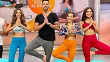 Alejandra Espinoza y Argelia Atilano se liberaron del estrés con esta sesión de yoga con Yudy Arias