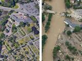 Fotografías interactivas: el antes y después de las impresionantes inundaciones en Europa