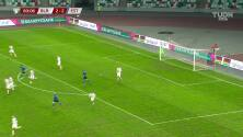 ¡GOL!  anota para Bielorrusia. Pavel Savitski