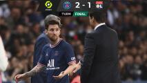 Messi se enoja y niega el saludo a Pochettino al salir de cambio
