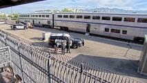 Las tensas imágenes de un tiroteo en un tren en Arizona que dejó un agente de la DEA muerto