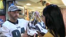 Barbería de Filadelfia muestra su fanatismo por los Eagles