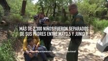 ¿Cuál es la situación de los niños indocumentados separados de sus padres en la frontera?