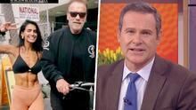 """""""Sacó su lado fan"""": Alan Tacher por la reacción de Bárbara de Regil con Arnold Schwarzenegger"""