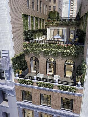 Photo © 2021 Streeteasy via The Grosby Group Jennifer Lopez has taken her Manhattan penthouse off the market after not being able to find anyone willing to pay $25 Million Dollars for it, or given her a reasonable counteroffer in 4 years. The diva from the Bronx is looking for a California home to share with Ben Affleck, but has still had no luck in finding a buyer for her fabulous New York City penthouse. She bought the property in 2014 for $20.16 Million, but after realizing that though it's in a great area for a normal city dweller, it doesn't offer the coveted privacy a superstar like her needs. In spite of its luxury and location, the building, built in 1924, doesn't have a garage or a swimming pool. It does have a full time doorman, and private key locked elevators. The penthouse itself has 12 foot high ceilings and 6500 square feet of interior living space plus 3000 square feet of outdoor space distributed in 4 separate terraces. The interior consists of 2 floors containing 3 bedrooms, each with its own bathroom, a huge open plan living room, and a chef's gourmet kitchen with a breakfast bar, a large island and a dining area; There's also a staff room with a full bath and a laundry room. She put the property on the market in 2017 for $26.95 Million, but in 2019 reduced it to $25 Million, and still hasn't found any buyers.