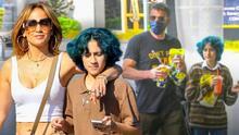 La hija de JLo se deja ver muy sonriente y platicadora con Ben Affleck, el novio de su mamá