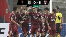 Golea River Plate y se acerca a Octavos de la Copa Libertadores