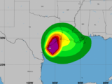 Trayectoria Nicholas: se convierte en huracán categoría 1 muy cerca de tocar tierra