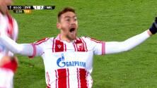 ¡GOL!  anota para Estrella Roja. Milan Pavkov