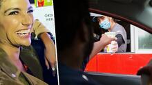 Natalia Jiménez da una interpretación estelar al pedir hamburguesas en un 'Drive thru'