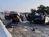 Choque sobre la autopista 99 deja un hombre muerto y dos policías de Galt hospitalizados