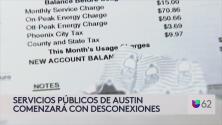 Servicios públicos de Austin comenzarán con desconexiones por falta de pago