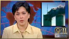 """""""Un avión se estrelló"""": así reportaba Neida Sandoval la noticia del atentado del 9/11"""