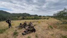 Ubican con drones a grupo de indocumentados que cruzaron la frontera de Arizona