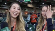 Prometida de José Urquidy, feliz por el triunfo del lanzador mexicano