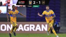 Tigres viene de atrás y supera al LAFC para conseguir el título de Concacaf