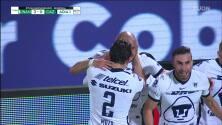 ¡GOOOL! Carlos González anota para Pumas UNAM.